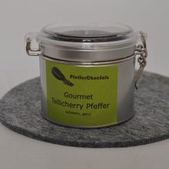 Tellicherry Pfeffer schwarz, ganz - 200gr in Runddose